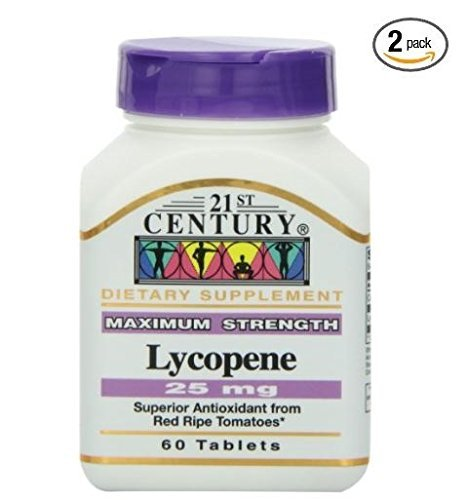 21st Century Lycopene 25 Mg Tablets, 60-Count (Pack of 2)