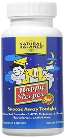 Happy Sleeper 8-Hour Formula Natural Balance 60 VCaps