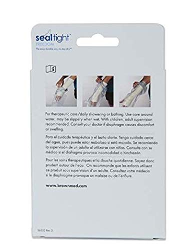 Seal-Tight Adult Freedom Cast Protector Waterproof Cast Cover Arm Cast and Bandage Cover