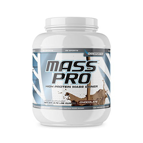 G6 Sports Nutrition Mass Pro High Protein Mass Gainer (64g Protein, Avocado Powder, Coconut Oil Powder, MCT Oil Powder)  6.76lb Jar  Chocolate