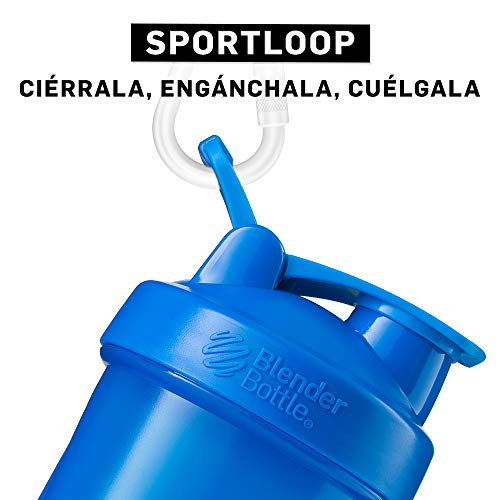 Blender Bottle Classic Loop Top Shaker Bottle, Cyan/Cyan