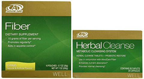 AdvoCare Herbal Cleanse & Fiber CITRUS (kit) | Herbal Cleanse 20 Capsules & Fiber 10 Pouches