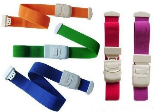 5-Pack Tourniquet Elastic First Aid Quick Release Medical Sport Emergency Tourniquet Buckle Band