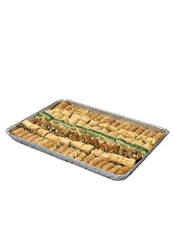Tasse Bakery Authentic Mediterranean Middle Eastern Baklawa (Baklava) Mix with Bourma (Mabroumeh), Ballorieh, Pistachio, Walnut and Cashew - 2.25kg 108pc
