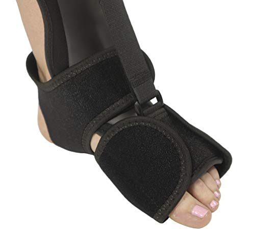 Comfort Dorsal Night Splint - Pain Relief from Plantar Fasciitis, Drop Foot, and Achilles Tendinitis - Large