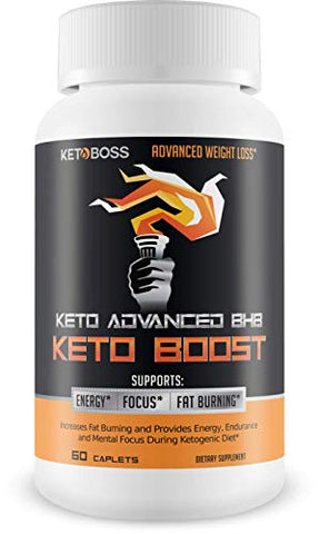 Keto Advanced BHB Keto Boost - Supports Fat Burning, Energy, Focus - Make The Difference in Your Keto, Paleo, Or Intermittent Fasting Diet with This bhb Supplement Designed to Maximize ketosis