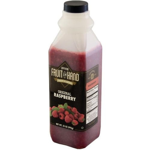Fruit In Hand Raspberry Pourable Fruit Puree, 35 Ounce -- 6 per case.