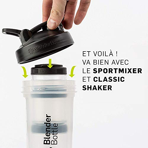 BlenderBottle C00360 GO STAK BLENDER BOTTLE, 100cc 3-Pak, White