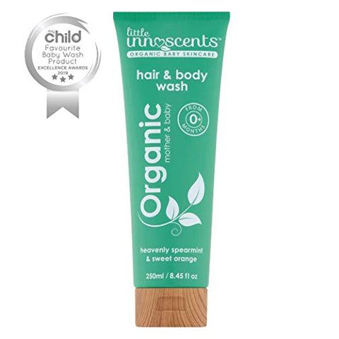 Little Innoscents Organic Baby Wash and Shampoo with Aloe Vera, Suitable for Baby, Children, Teens, and Adults Use, Can be Used Regularly as a Body Wash