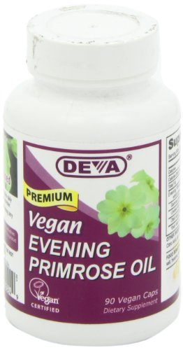 DEVA Vegan Vitamins Vegan Evening Primrose Oil  Vcaps, 90-Count Bottle
