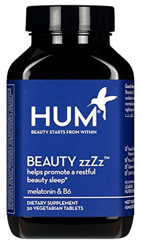 Hum Beauty Zz Zz Sleep Aid   Melatonin & Vitamin B6 Support For Beauty Sleep   Non Gmo And Gluten Fre