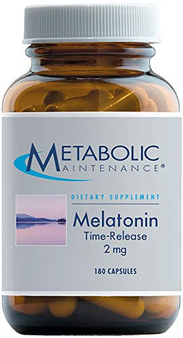 Metabolic Maintenance Melatonin - 2 Milligrams Time Release Melatonin Restful Sleep Support (180 Capsules)