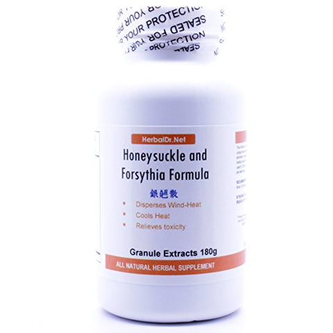 Honeysuckle and Forsythia Formula Extract Powder Tea 180g (Yin Qiao San) Ready-to-Drink 100% Natural Herbs