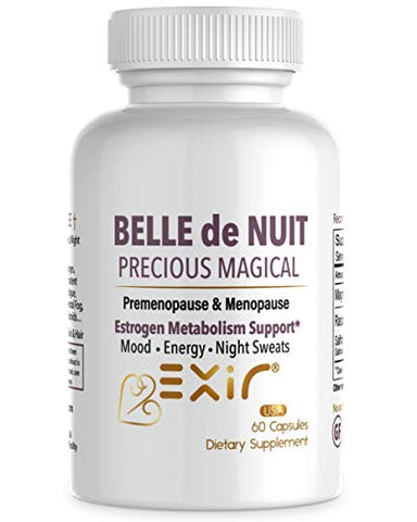 Bell de Nuit Energy Fatigue & Stress Relief, Estrogen Balance, Menopause & Hot Flashes, Hormonal Support for Women Men, 60 Capsules