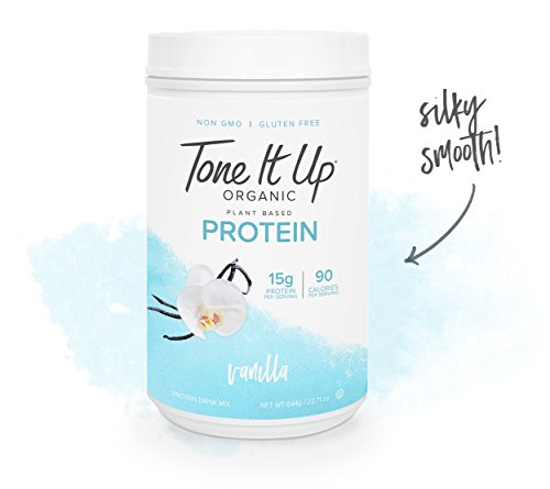 Tone It Up Organic Vegan Vanilla Protein Powder for Women | 100% Pea Protein Sugar Free Gluten Free | 15g of Protein | Supports Weight Loss and Lean Muscle | Kosher Non GMO | 1.54lbs