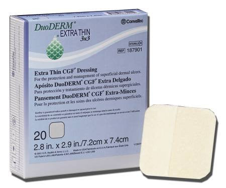 Duo Derm Extra Thin Hydrocolloid Dressing 4 X 4 Inch Square Sterile, 187955   Sold By: Pack Of One