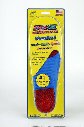 ENER-GEL CUSHION MAXX INSOLES $9.99/pr. LARGE (Men's 10-14 Women's 11+) MADE IN THE USA!