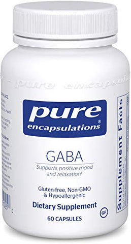 Pure Encapsulations   Gaba   Supports Positive Mood And Relaxation   60 Capsules