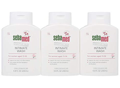 Sebamed Feminine Intimate Wash pH 3.8 Daily Vaginal Hygiene Wash 6.8 Fluid Ounce (200mL) Pack of 3