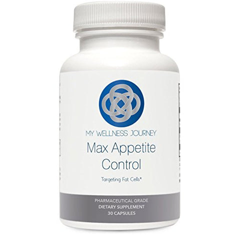 Max Appetite Control- Combat Food Cravings Naturally- Boost Metabolism and Appetite Control- Natural Leptin Manager Targeting Fat Cells- 30 caspsules