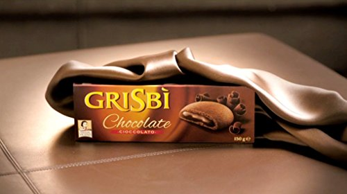 "Vicenzi: ""Grisbi"" Italian Shortcrust Biscuits filled with Chocolate Cream - 5.3 Ounces (150g) Package (Pack of 12) [Italian Import ]"