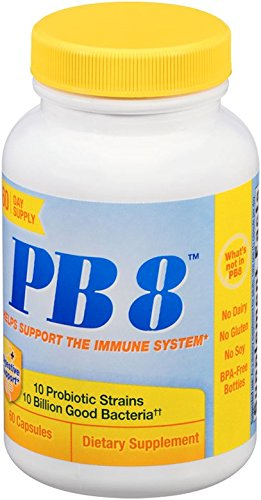 Nutrition Now PB 8 Probiotic Immune System and Digestive Support* Dietary Supplement, 60 Count