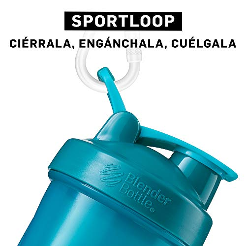 BlenderBottle Classic Loop Top Shaker Bottle, 28-Ounce, Teal/Teal