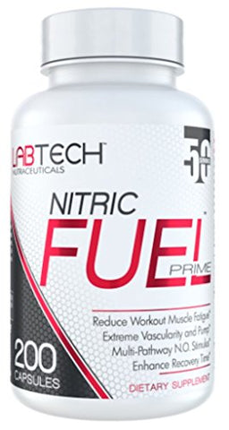 LabTech Nitric Fuel Prime Nitric Oxide Supplement - Premium Muscle Building Nitric Oxide Booster, 200 Count