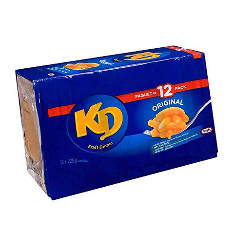 Kraft Dinner, Original Macaroni & Cheese 225g/7.6oz, 12ct, Imported from Canada}