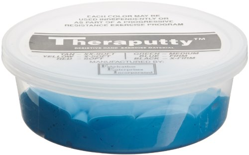 CanDo TheraPutty Standard Exercise Putty, Blue: Firm, 3 Ounce