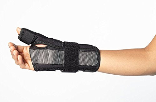 Wrist Brace with Thumb Stabilizer - Support for De Quervains, Sprains, Arthritis, and Bursitis Pain - Lightweight, Hypoallergenic Wrist/Thumb Spica by BioSkin (Medium-Large (Left))