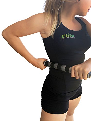 Elite Massage Roller Stick Targets Sore, Tight Leg Muscles to Prevent Cramps and Release Tension. It's Sturdy, Lightweight, Smooth Rolling and Thankfully This Lifesaver has Comfortable Handles.Silver