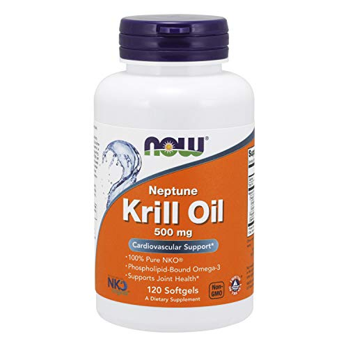 Now Supplements, Neptune Krill Oil 500 Mg, Phospholipid Bound Omega 3, Cardiovascular Support*, 120