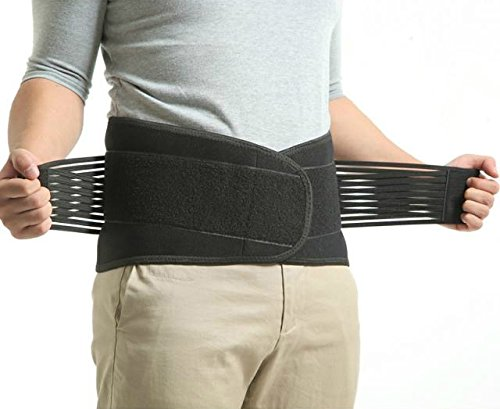 Kl Happiness Deluxe Neoprene Double Pull Lumbar Lower Back Support Brace Exercise Belt (6 Xl : (60 66