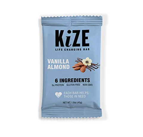 KiZE Bar (10 Pack) - 8 Flavor Variety Pack | Real Ingredients, Real People, Every Bar Helps Those in Need | Non GMO, Gluten Free, No Added Sugar, Simple Ingredients
