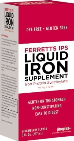Ferretts IPS Liquid Iron Supplement (Pack of 4)