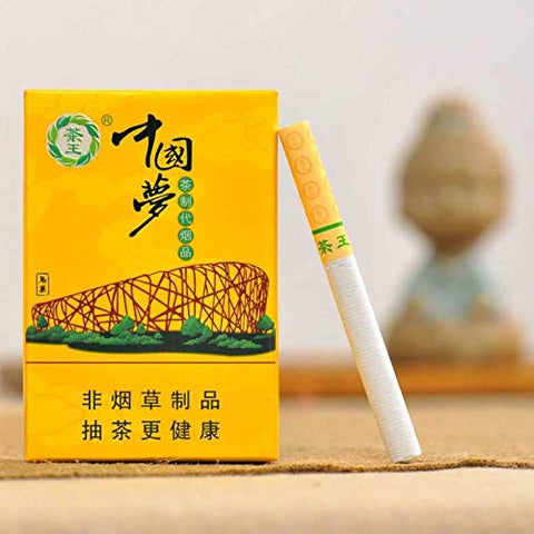 Yunnan Chinese Herbal Cigarettes, Green Tea Menthol Cigarettes, Smoke-Free-Nicotine-Free, Can Replace Cigarettes-Cigarettes That Can Clean The Lungs (5 Packs,Chinese Dream)