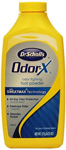 Dr. Scholl's Odor-X Odor Fighting Foot Powder 6.25 oz (Pack of 8)