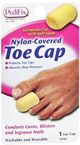 PediFix Nylon-Covered Toe Cap Large 1 Each (Pack of 5)