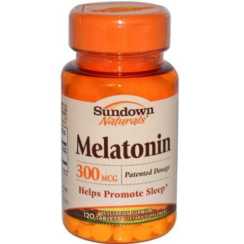 SUN DOWN MELATONIN 300MCG 44622 120Tablets by Sundown Naturals