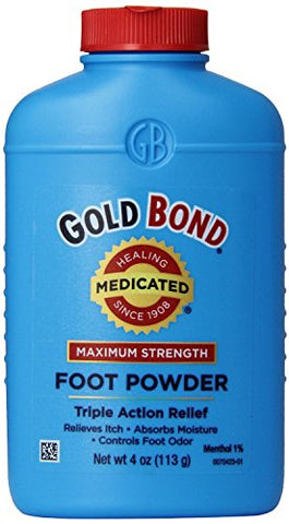 Gold Bond Medicated Foot Powder 4 oz. (Pack of 5) by Gold Bond
