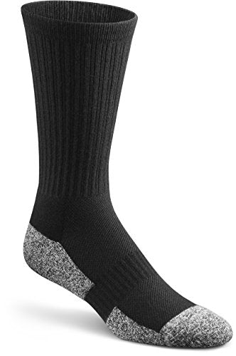 Dr. Comfort Diabetic Crew Socks, Black, Medium (1 Pair)
