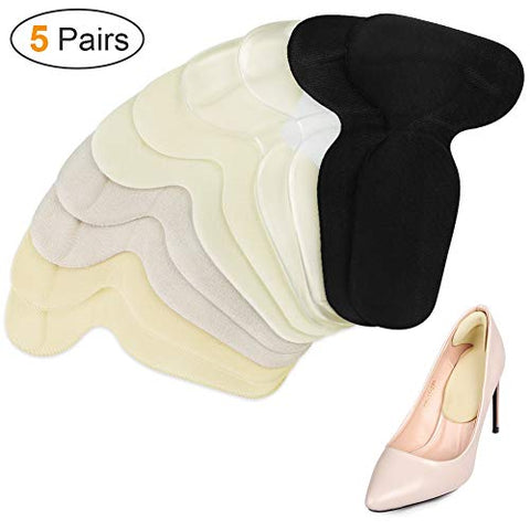 Heel Cushion Inserts Shoe Pads for Women Reusable Foot Care Protector Shoe Pads Filler for Too Big Shoes - 5 Pairs