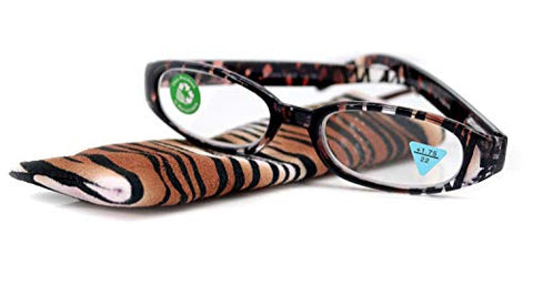 Isabella, Premium Reading Glasses, Fashion Reader Zebra Brown Print +1.25 +1.50 +1.75 +2 +2.25 +2.50 +2.75 +3. Oval Shape. NY Fifth Avenue.