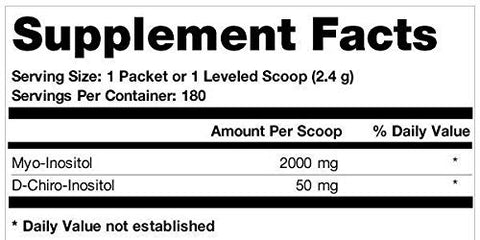 Ovasitol Inositol Powder 90 Day Supply | Myo Inositol 2000mg | D-Chiro Inositol 50mg | 180 Packets