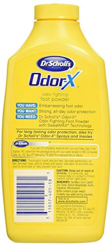 Dr. Scholl's Odor-X Odor Fighting Foot Powder 6.25 oz (Pack of 11)