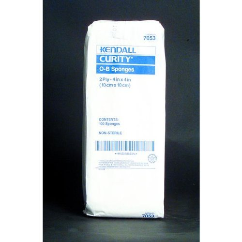 Special 2 Packs of 100 - CURITY O.B. Sponge KND7053 KENDALL HEALTHCARE