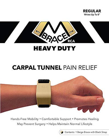 M Brace Rca Carpal Tunnel Wrist Pain Relief (Regular, Two Tone: Beige Brace With Black Strap)
