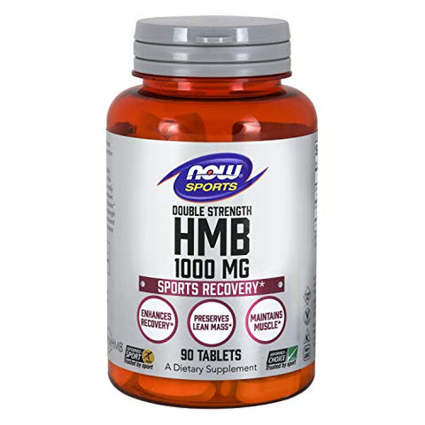 Now Sports Nutrition, Hmb (ãžâ² Hydroxy ãžâ² Methylbutyrate), Double Strength 1,000 Mg, 90 Tablets