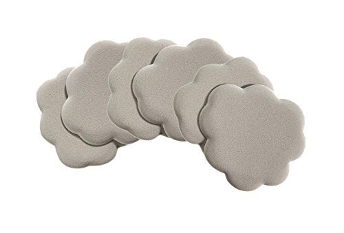 Foot Petals Tip Toes Ball of Foot Shoe Cushions (Silver)